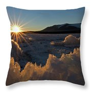 The Late Season Suns Skims Throw Pillow
