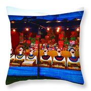 The Laughing Clowns  Throw Pillow