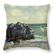 The Laugland Bay Throw Pillow by Alfred Sisley