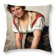 The Laundress Throw Pillow