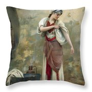 The Laundress Throw Pillow