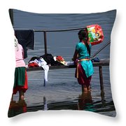 The Laundry - Nepal Throw Pillow