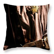 The Law Throw Pillow by Olivier Le Queinec