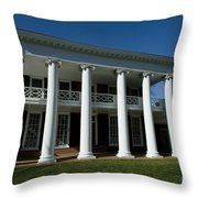 The Lawn At Uva Throw Pillow