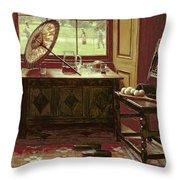 The Lawn Tennis Season, 1881 Throw Pillow by Mary Hayllar