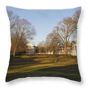 The Lawn University Of Virginia Throw Pillow