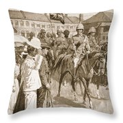 The Leader Of The Allies, Illustration Throw Pillow by Ernest Prater