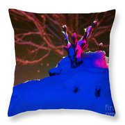 The Leaf Crown Throw Pillow