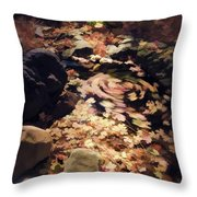 The Leaf Swirl  Throw Pillow