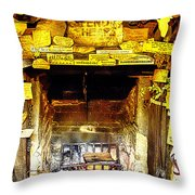 The Leather Shop Fireplace Throw Pillow