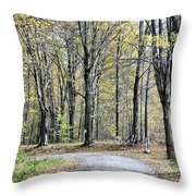 The Leaves Are Falling Throw Pillow