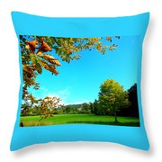 The Leaves Are Turning Golden... Throw Pillow