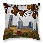 The Leaves Of Philly Throw Pillow