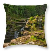 The Ledges Waterfalls Throw Pillow