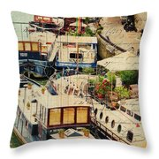 The Left Bank Throw Pillow