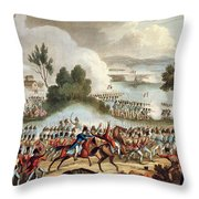 The Left Wing Of The British Army Throw Pillow