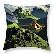The Legendary South American Golden Throw Pillow