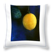 The Lemon Poster Throw Pillow