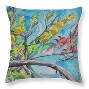 The Lemon Tree Throw Pillow