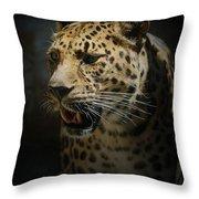 The Leopard Throw Pillow