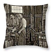 The Lesson Sepia Throw Pillow by Steve Harrington