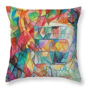 The Letter Caf 2 Throw Pillow