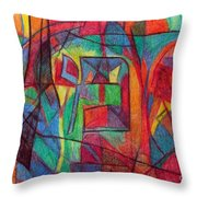 The Letter Mem Throw Pillow