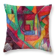 The Letter Peh Throw Pillow