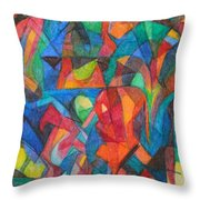 The Letter Raish 2 Throw Pillow