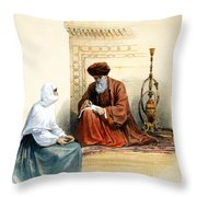 The Letter Writer Throw Pillow