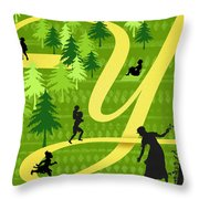 The Letter Y Throw Pillow