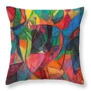 The Letter Yud Throw Pillow