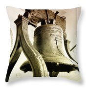 The Liberty Bell Throw Pillow by Bill Cannon