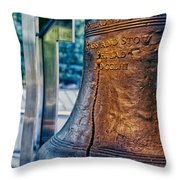 The Liberty Bell In Philadelphia Throw Pillow