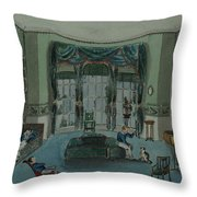 The Library, C.1820, Battersea Rise Throw Pillow by English School