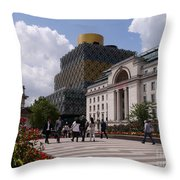 The Library Of Birmingham Throw Pillow
