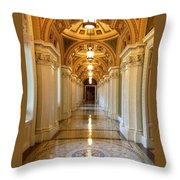 The Library Of Congress Jefferson Building Throw Pillow