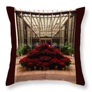 The Library Of Congress Madison Building At Christmas  Throw Pillow