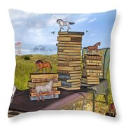 The Library Your Local Treasure Throw Pillow