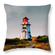 The Light At Covehead Harbour Throw Pillow