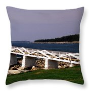 The Light At Marshall Point Throw Pillow