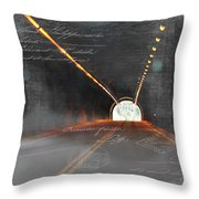 The Light At The End Of The Tunnel Throw Pillow