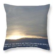 The Light Throw Pillow by Christina Verdgeline
