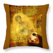 The Light Inside The Dead Throw Pillow