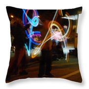 The Light Jugglers Throw Pillow by Steve Taylor