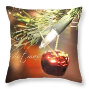 The Light Of Christmas Throw Pillow