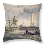 The Lighthouse At Cape Chersonese Throw Pillow