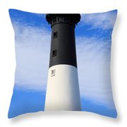 The Lighthouse At Hunting Island State Park In South Carolina Throw Pillow