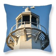 The Lighthouse At Mevagissy Throw Pillow