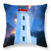 The Lighthouse At Peggys Cove Throw Pillow